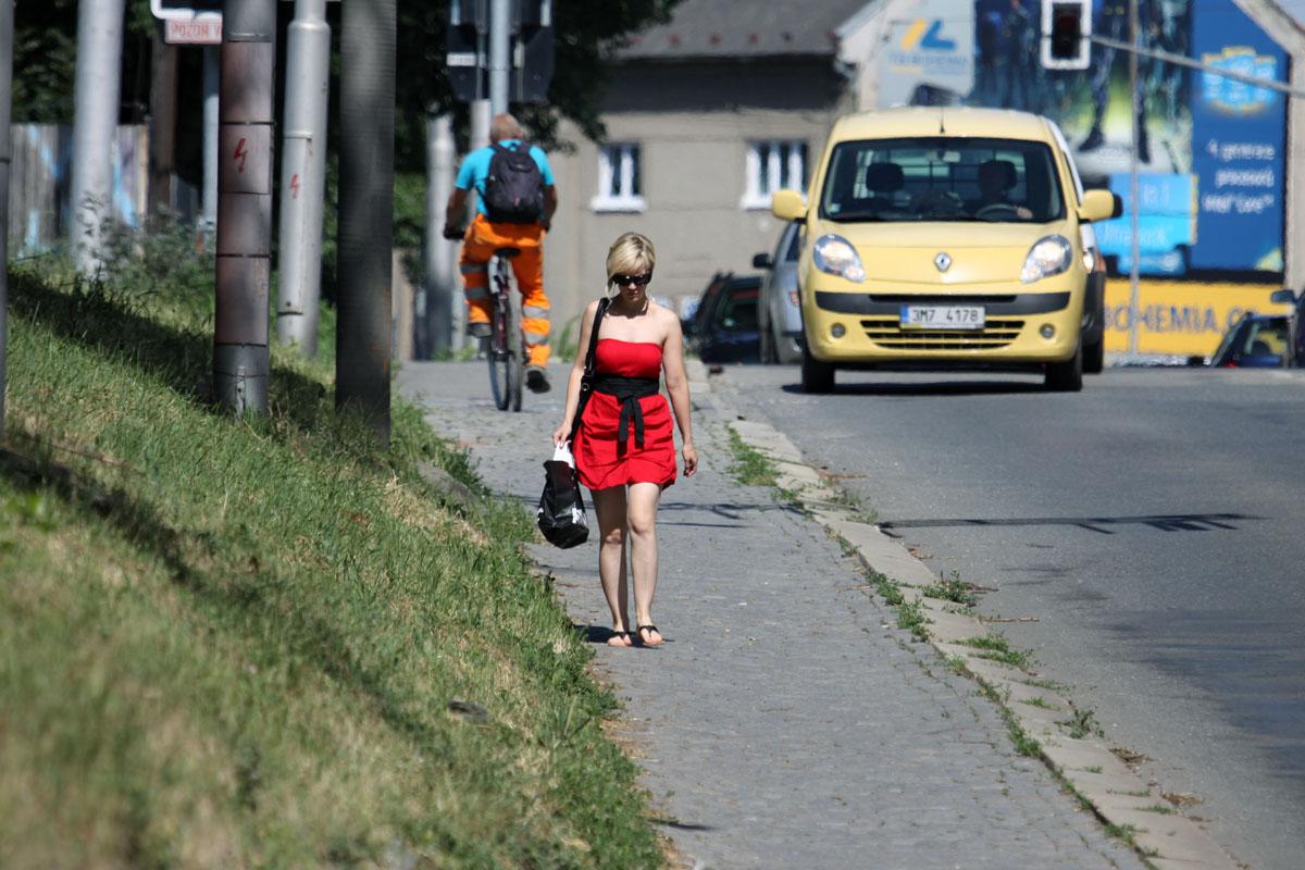Žena v Olomouci.